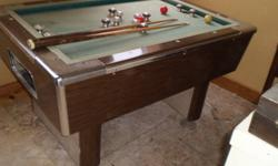 bumper pool table in fair condition