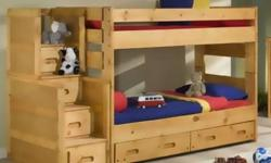 For over 20 years John's has carried only the best in solid wood bunks beds that are SAFE for your kids. We have a huge selection of solid wood bunks. With many styles and stain options to choose from, you will find a safe option for your family that will