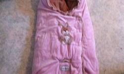 Pink bag for in a stroller. I also used it as my babies blanket in her bed, helped keep her from kicking off the covers! This ad was posted with the Kijiji Classifieds app.
