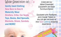 "Baby Central Consignment BUY 1 GET 1 HALF OFF SALE :   Sale includes Regular priced Clothing/Outerwear/Footwear in sizes NB to 6X Everyday... LOW PRICES! - ""Gently Used"" We have a rack full of Christmas Apparel Rows of Boots and dress shoes....all buy 1"