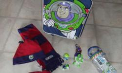 BuzzLightyear Travel luggage, hat set and Plastic Toys. All are in excellent condition. Like new. Everything in the pictures is for this price. Posted with Used.ca app