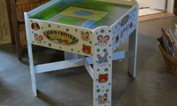 Calico Critters play table with drawer. Has a couple of spots where the white paint could be touched up, but otherwise is in excellent condition. Our daughter no longer plays with the series which is the reason for sale.