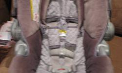 """Graco Infant Car Seat: Rear facing for infants weighing 5-30 lb Removable infant head support 5-point front-adjust harness system Deluxe polyester seat pad removes for washing Date of Manufacture: 2008 (will """"expire"""" in 2014)   Comes from a smokefree"""