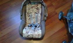 Car seat / stroller combo [brand name Cosco]- used for about 9 months till baby outgrew :)   No accidents or dents on seat, and manufacture date is 2009.   ** New price **   Asking $70