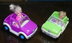 Girl doll or boy... Two cars to choose from... $8. Each car with a doll