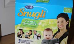 Excellent condition. Smoke Free Pet Free home. Snugli Brand Infant Carrier(from Toys R Us never used), Tiny Love Brand Mobile with remote(from Toys R Us) & Wiggle Worm Activity/Play mat. $40 for all.