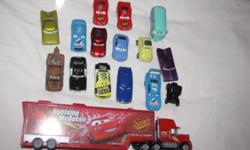 Featuring 3 Lightning Mcqueen vehicles, Mac and many more Vehicles have been played with and are in fair condition - looking for a new home. Smoke-free environment
