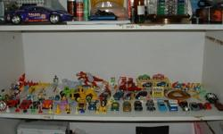 I have the whole row of cars etc. as you see in the picture for $35. The middle shelf row only Hot wheels cars and etc...  Kids will sure want them!   Call me 613 363 5068 or text me anytime.