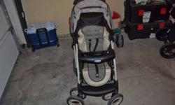 Graco Stroller System purchased for over $500.00 just over a year ago from Toys are Us. This is an amazing stroller, light, durable and extreamly well maintained. Only selling as I had another baby right after so had to move up to a double stroller.