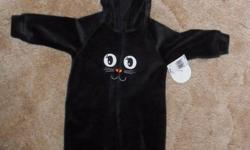 For sale black velour cat baby costume - size 6 months.   New with tags, too big for my little one.   Please email.