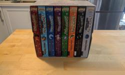 Complete 8 book Charlie Bone collection. Very good condition. Paper back. Brand new $45.