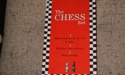 The Chess Set which comes with illustrated book on how to play, wooden chess pieces and chess board.  Great for the beginner, never been used.