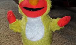 chicken dance elmo. comes with 3 new duracell aa batteries. is a toy and a game..elmo does the chicken dance and encourages everyone to do it too as he goes faster and faster. lots of fun! asking only $15 can be picked up in kemptville at your convience,