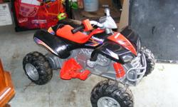 My son has gotten too big for his quad. It is in great working condition. Battery and charger included.   Contact Natasha after 6pm at 489-5440.