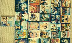 Children's DVDs of all kinds including cats and dogs, bee movie, coralline, princess diaries, meet the robinsons, and more. $1 each or take all 21 DVDs for $15.