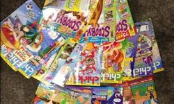 All magazines for $5, which includes 6 Phineas and Ferb, 9 Chickadee, 3 Scooby-Doo.