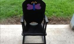 Daycare closing - need it gone! Black children's rocking chair. $10 OBO