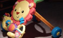 Children's Toy Lion Character that toddlers can use to walk or play with plays music,and features toys