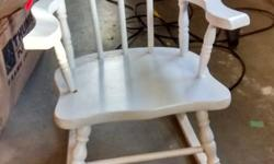 Vintage children's white rocking chair. Great condition. Please email to view/pick-up.
