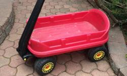 Children's Red Wagon Also good for delivering flyers Wheels and body in good condition Made in Canada $25