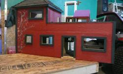 Childrens Dollhouses, custom made complete with furniture. Choose from current stock or will custom build to your specifications. Guarenteed ready in time for Christmas if ordered by November 30th.    Farm barns available for the young man of the house.