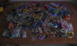 I have a very large box of jewelery that a little girl would treasure and play with for hours and it is all just for $10.00.  It even contains some beads that she could use to make her own jewelery if she wants. See pics Check out my other ads