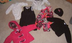Cute set. All piecesMATCH/go together.Warm set. JACKET 2 pairs overalls sweater long sleeve top long sleeve onsie toque to by new this set would cost over $100 easy. Asking $40. From clean, smoke free, pet free home. Port Arthur pick up.