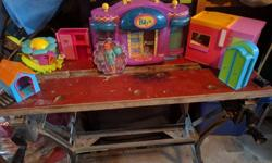 I have some childrens toy for sale. A lot of Polly Pockets and Miss Party Surprise. Bratz and Board games will be a different ad. If interested, please email or text me. Polly Pocket large items: $5.00 each or $40.00 for everything. Polly Pockets dolls