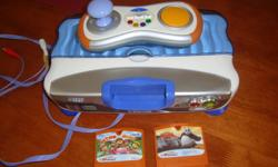 """CHILDREN""""S VTECH WITH 2 GAMES """"KUNG FU PANDA""""&""""ACTION MANIA"""" . BOUGHT FROM WALMART FOR $90 WITH GAMES. CHILDREN NO LONGER PLAY WITH THEM, THEY ARE IN EXCELLENT CONDITION, EXCELLENT PRICE. BARELY USED $45. IF INTERESTED PLEASE CONTACT 519-991-5306. MAKES A"""