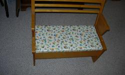 """This was our favourite toy when we were kids, but now it is time to pass it on :>) Seat comes up to store toys underneath, Wow, Fun !! 26'L x 12""""w x 25""""H please email"""