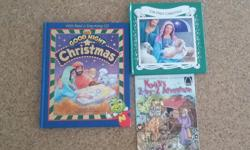"3 Christian books; ""My Goodnight Christmas - with read and sing-song CD"", ""Noah's 2-by 2 Adventure"", ""The First Christmas"" (pop-up book), all in very good condition"