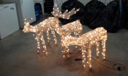 Christmas decorations, $10 each or 3 for $25