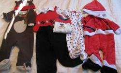 Santa Suit 12m $5.00 Pic 1 My 1st Christmas Onesie  12m $1 Pic 2 My 1st Christmas Sleeper 12m $4 Pic 3 Reindeer Sleeper 12m $5.00 Pic 4 Boys 12m Christmas Outfit $8.00 Pic 5 Boys 12-18. Christmas Tux $8.00 Pic 6 Boys fits like 12 m 2pc oufit $5.00 Pic 7