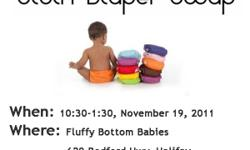 ?Fluffy?Bottom?Babies  902 818 2223 629 Bedford Hwy, Halifax, NS www.fluffybottombabies.ca http://www.facebook.com/fbbns   Cloth diapering families are invited to our Cloth Diaper Swap Party where you can trade, sell or swap your used/new cloth diapers