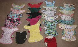 I have 24 barely used fitted Nifty Nappy cloth diapers for sale and 2 wooly wraps never used. Also have 12 bitty bums (newborn size) and 2 bitty bum wooly wraps. 3 have been used once, the rest never used. Fitted's have been used for 1 month only. Asking