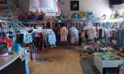 """Lethbridge's largest selection of retail and resale items for babies and children all at a price that makes sense! Happening now......."""" Polka Dot"""" sale!! Red dot tags 40% off Blue dot tags 60% off (New inventory added daily!) Clothes (sizes 0-8 & tons of"""