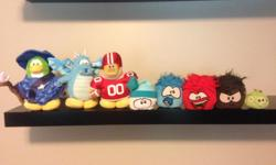Gently loved club penguin stuffies. Send a text if interested. 250-616-3202.