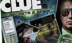 New clue game, Secrets and Spies Receive clues on your cell phone during game play and complete missions all around the globe to become the ultimate spy in this all new clue game. call 317-4263