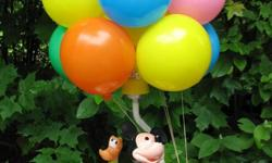 """Mickey & Pluto: A vintage Disney collectible. Your child or grandchild is counting on you! Height 20"""". Photo was taken in the shade. It's posted on another well known website at $150."""