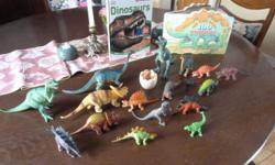 Collection of 18 DINOSAURS and 2 dinosaur Books Books alone are worth $25 1. DINOSAURS now includes fun activities NEW BOOK 2. You Can Name 100 DINOSAURS Collection of 18 different dinosaurs $30 Firm for all! Downtown, Ottawa