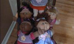 Cabbage Patch Dolls Collection of Cabbage Patch dolls Different coloring with different hair Fully dressed and in original clothing No adoption papers All in mint condition. Downtown, Ottawa $30 EACH Price is firm.