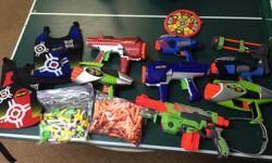 Collection of Nerf Darts and Targets All working. $50.00 for all.