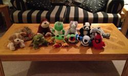 collection of webkin stuffies seen in photo