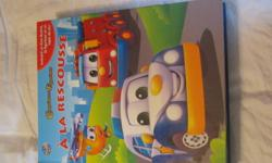 French book, includes play mat & figurines - $5