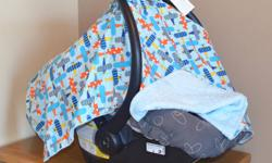 Ever tried covering baby's car seat with a blanket that kept falling off?  Then you need one of our deluxe baby car seat covers. Handmade by a Canadian WAHM (Work-at-Home Mommy), these quality covers come complete with specially placed ties that attach to