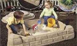Little tykes covered sandbox with purple play sand
