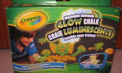 Crayola washable sidewalk glow chalk. Brand new never opend. for ages 6+. paid $7 plus taxes. asking $4.