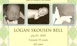 Creating Celebrations offers custom made birth announcements, brag books, posters, wall art and canvases to celebrate the birth of your little one.   Check out my website at:  www.creatingcelebrations.weebly.com to view samples of my products.