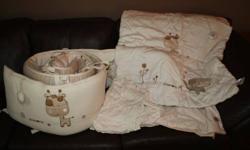 Crib Bedding   - Includes sheets, comforter, bumper bads.