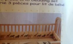 Safari themed comforter &bumpers, like new was used once as a spare set. clean smoke & pet free home. Still have packaging just no bottom sheet This ad was posted with the Kijiji Classifieds app.